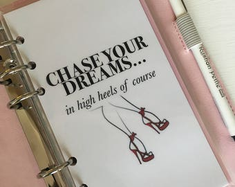 Chase Your Dreams Personal Planner Dashboard