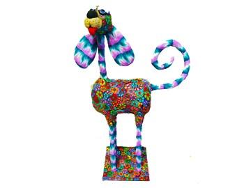 Dog sculpture, Dog  decor sculpture, Home Decoration, dog Art, Home design, Dog Decor, Metallic base, Colorful, home decor, Dog lover gift