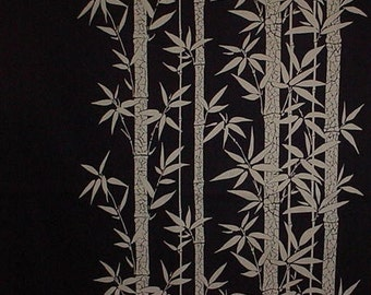 Large Furoshiki Navy Bamboo Grove Cotton Japanese Fabric Wrapping Cloth 90cm w/Free Insured Shipping