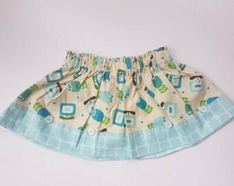 Blue Geo 2 Skirt