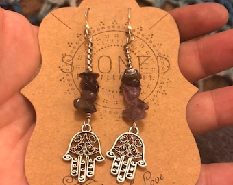 Ahimsa Amethyst Earrings