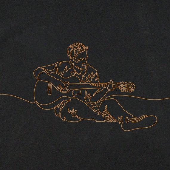 Men's Guitar T-Shirt, Guitarist T-Shirt, Gift for Guitarist, Guitar Art, Graphic T-Shirts, Guitar Player T-Shirt, Graphic Guitar T-Shirt
