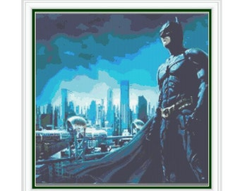 CROSS STITCH PATTERN Batman,Digital Download pdf