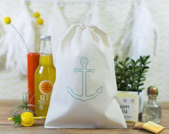 Anchor Wedding Welcome Bags - Beach Wedding Welcome Bags - Beach Wedding Favors - Nautical Wedding Welcome Bags - Nautical Welcome Bags