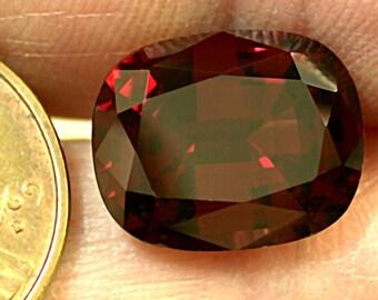 RHODOLITE GARNET VINTAGE Faceted Loose Gemstone Antique Cut 8.21cts fg66