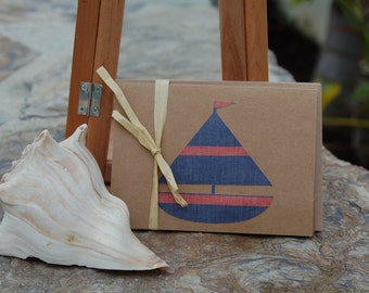 Set of 6 Sailboat notecards
