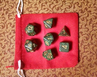 Wilderness - 7 Die Polyhedral Set with Pouch