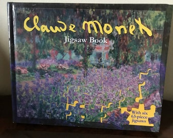 "Claude Monet HC Jigsaw Book With Six**63-Pieces Jigsaws* Unused* 8.5"" X 11"""