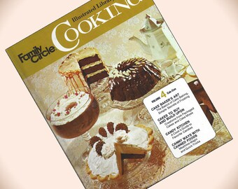 Family Circle Illustrated Library of Cooking Volume 4 1970s Hardcover