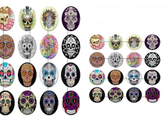 Digital images for cabochon or ti51 Skull image transfer