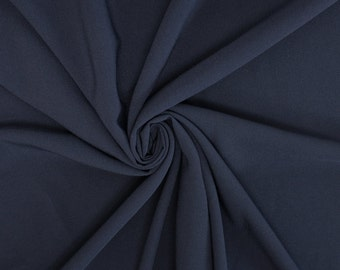 Navy Crepe Fabric - 1 Yard Style 482