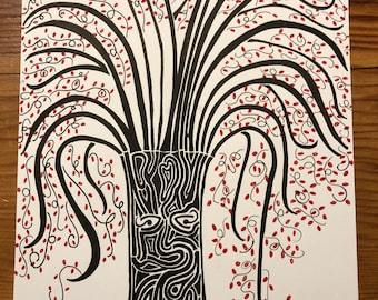 Original Tree Drawing - Print
