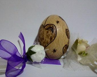 Personalized easter egg, Wood burning egg, wood burned egg, natural toys, Easter egg, Wooden Easter egg, home decor, lovely egg