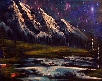 Under the Milky Way Tonight Embellished Print