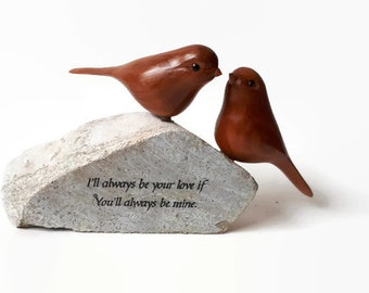 Love birds anniversary gifts engagement gift wedding gift for couple romantic gift for her gift for bride 5th anniversary gift wood carving