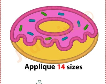 Doughnut Applique Design. Doughnut embroidery design. Donut applique design. Embroidery design donut. Doughnut. Machine embroidery design