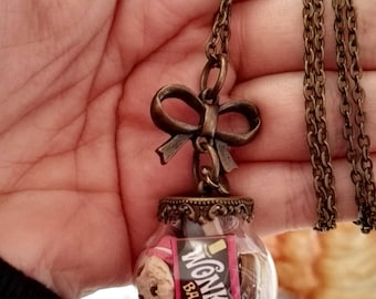 Mushy bubble Necklace-Willy Wonka-ampoule-Necklace