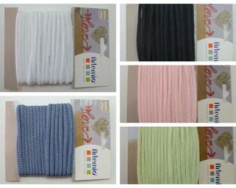 5 mètres Tricotin fil dia 5mm Artemio couleur au choix DIY loisirs créatifs Home déco fil tricoté