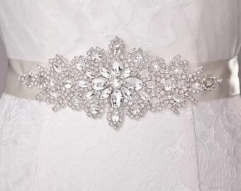 Beautiful wedding dress sash, bridal sash