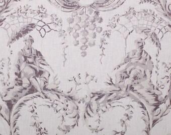 5,5 yards Chivasso Emperor's Garden chinoiserie toile fabric