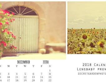Provence 2018 Photo Calendar, France, Vintage Provence, Travel Photography, Wall Calendar, Paper Goods, Stationary, 2018 Calendar, Calender