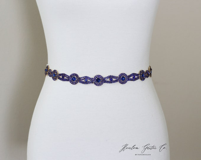 Blue Bridal Belt, bridesmaid belt, Bridal Sash, Something Blue, Wedding Belt, Wedding Sash Rhinestone Sash