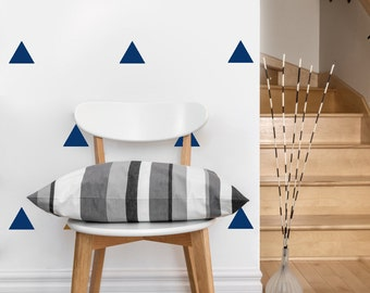 Triangle Pattern | Vinyl Wall Sticker,  Decal Art | Set of 50 Triangles, 4-inch wide