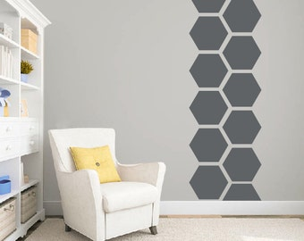 Hexagon wall decal, Playroom wall decal, Hexagon wall sticker, Kids wall decal, Hexagon wallpaper, Nursery decal Honeycomb wall decal DB346