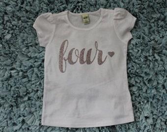 Custom Fourth Birthday Shirt