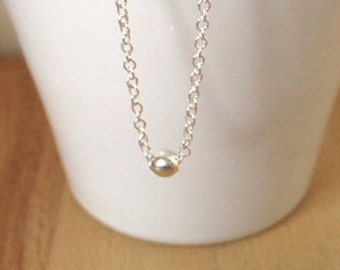 Sterling Silver Ball Necklace Dainty Necklace Silver Ball Necklace  Birthday Gift For Her Gift For Best friend Mothers Day Gift