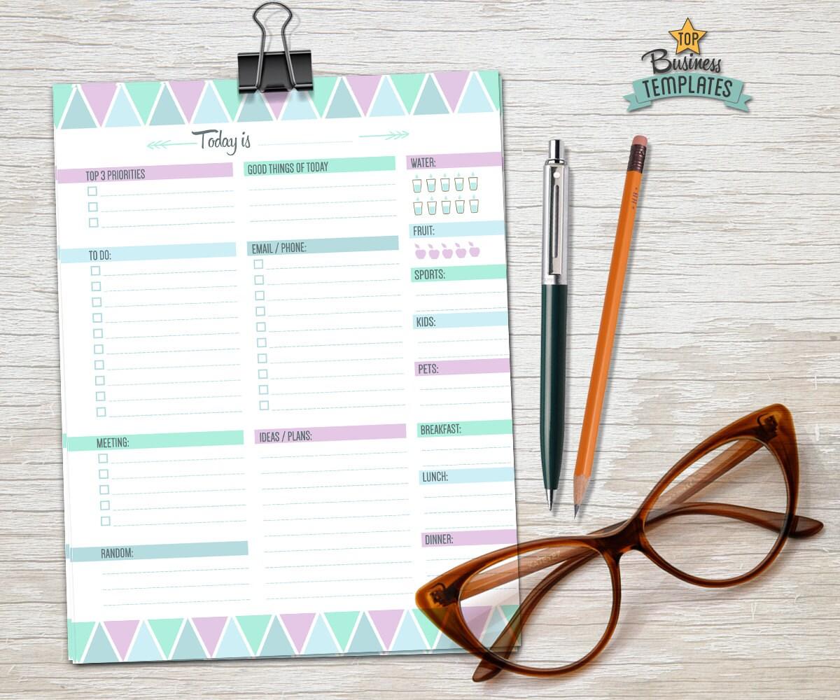 Planificador diario editable Adobe Acrobat agenda diaria