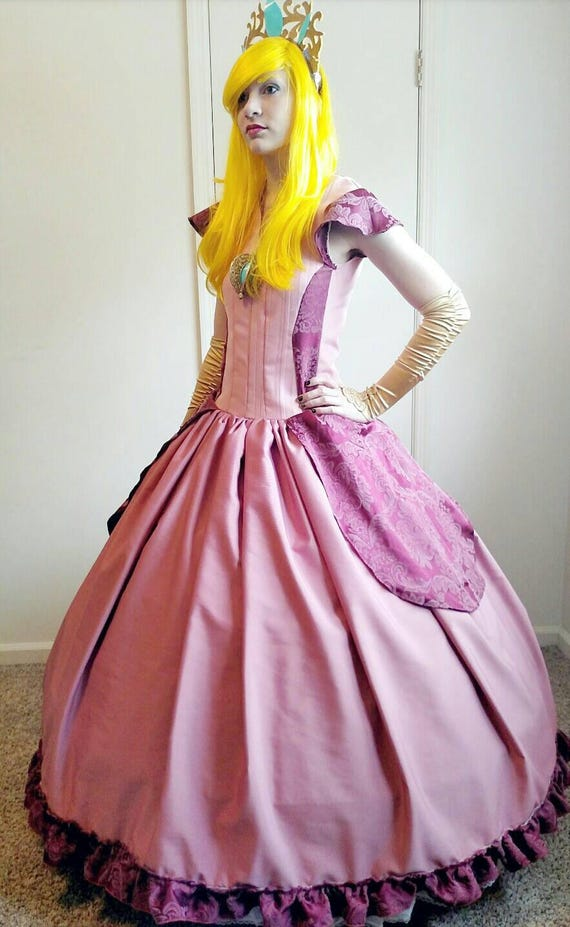 Princess Peach Cosplay Victorian Period Handmade Costume