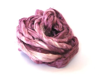 Mulberry/Bombyx Silk Sliver Plum - 29 grams