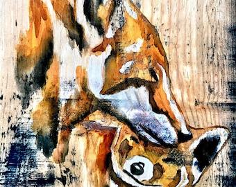 FOX ART - Rustic Home Decor - Wood Wall Decor - Cabin Decor - Fox Decor - Fox Wall Decor - Fox Wall Art - Rustic Wall Art -Fox Decor - Fox