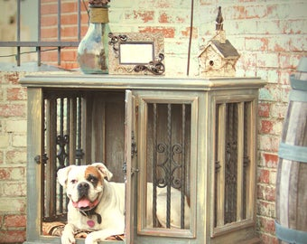 Large Single Indoor Custom Wood Dog Kennel/Crate