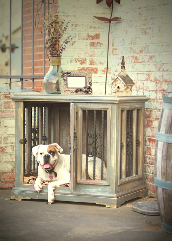 Large Single Indoor Custom Wood Dog Kennel Crate