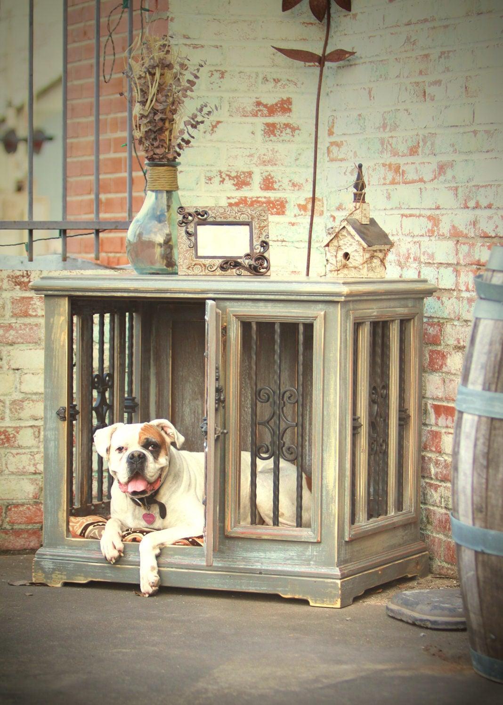 Large Single Indoor Custom Wood Dog Kennel Crate