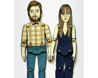 Paper Doll Portrait  — Custom Order