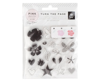 Turn the page Paige Evans acrylic stamp set