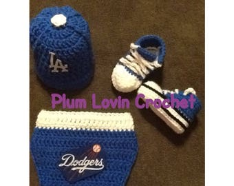 Crochet LA Dodgers inspired outfit