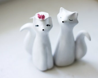 Wedding cake topper - Foxes cake topper
