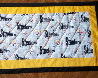 Pittsburgh Steelers and Penguins Reversible Table Runner/Centerpiece