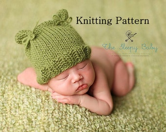 Printable KNITTING PATTERN Lil' Cub Hat - newborn, baby, instant download