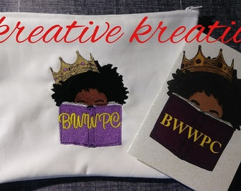 BWWPC Embroidered Zipper Pouch Set