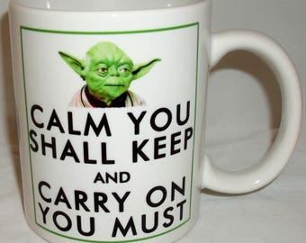 Yoda Keep Calm Design Ceramic Coffee Tea Mug