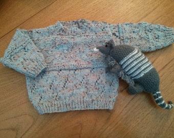 Pretty blue baby jumper 3 - 6 months. 24 inch chest.