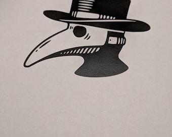 Plague Doctor Mask Decal