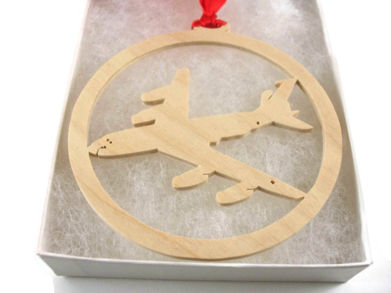 Boeing KC-135 Stratotanker Christmas Tree Ornament Handmade From Birch Wood By KevsKrafts