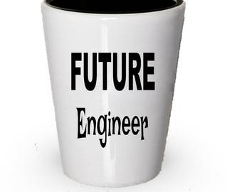 Future Engineer Shot Glass, Engineer gift, Gift for Engineer, Birthday Gift, Christmas Present