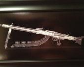 MG 42 belt fed machine gun Xra...